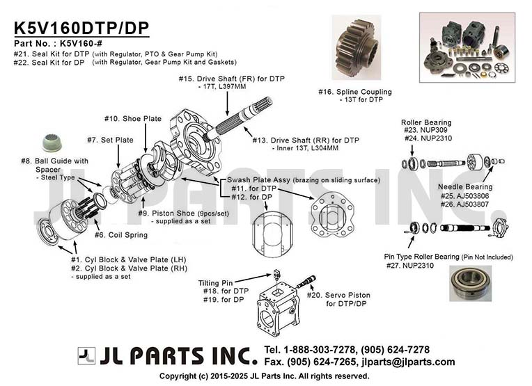Jl Parts Inc K5v160dtp Dp